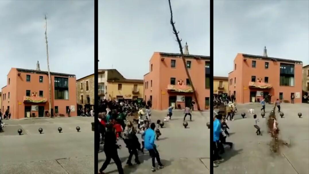 Centymetry od tragedii na lokalnym festiwalu w Hiszpanii. Na szczęście nikt nie jest ranny