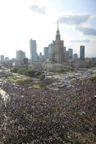 """Godzina """"W"""" w stolicy PAP/Radek Pietruszka"""