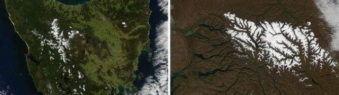 Biało na Tasmanii i Syberii. Jednocześnie