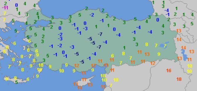Temperatura maksymalna w Turcji w środę (wetteronline.de)