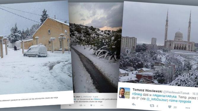 Metrowa warstwa śniegu w Tunezji. Opady mają się utrzymać