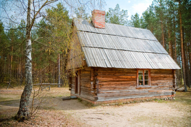 Stara chata na Kaszubach